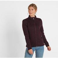 TOG24 Charlton Womens Knitlook Fleece Jacket - Aubergine