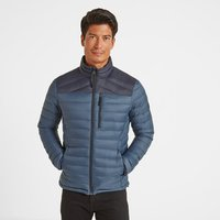 TOG24 Drax Mens Funnel Down Jacket - Navy/Denim