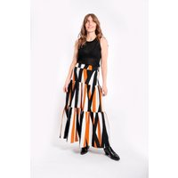 Barefoot Maxi Skirt in White and Brown