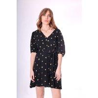 Breathless Trance Mini Dress in Black
