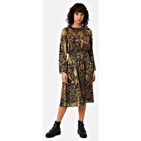 Trance Paisley Midi Dress in Black