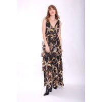 Maxi Mia Dress in Black Floral