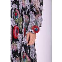 Chiffon Pleated Fathomless Midi Dress in Floral Print