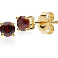 Classic Round Garnet Stud Earrings in 9ct Yellow Gold 3.5mm