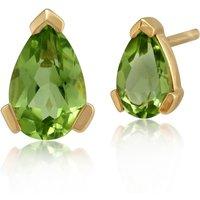 Classic Pear Peridot Stud Earrings in 9ct Yellow Gold 6.5x4mm