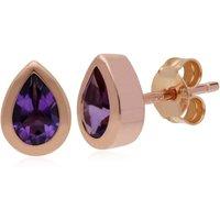 Gemondo 9ct Rose Gold Amethyst Classic Pear Stud Earrings