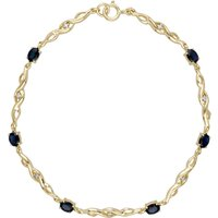 Infinity Sapphire and Diamond Tennis Bracelet in 9ct Yellow Gold