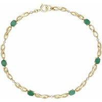 Infinity Luxe Emerald and Diamond Tennis Bracelet in 9ct