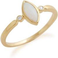 Gemondo 9ct Yellow Gold 0.25ct Opal & Diamond Ring
