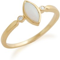 Gemondo 9ct Yellow Gold 0.25ct Opal and Diamond Ring