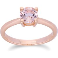 Classic Round Solitaire Morganite Ring in 9ct Rose Gold