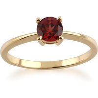 Gemondo 9ct Yellow Gold Mozambique Garnet Round Cut Single Stone Ring