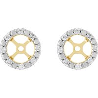 Classic Round Diamond Earring Jacket in 9ct Rose Gold