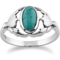 Gemondo 925 Sterling Silver 0.77ct Turquoise Ring
