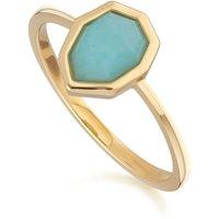 Irregular B Gem Blue Peru Amazonite Ring
