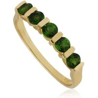 Kosmos Peridot Half Eternity Ring in 9ct Yellow Gold