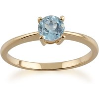 Gemondo 9ct Yellow Gold Topaz Round Cut Single Stone Ring