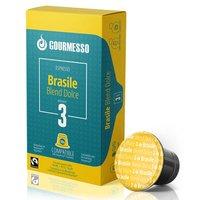 Gourmesso Brasile Blend Dolce - 10 Kaffeekapseln für das Nespresso System