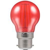 Crompton LED Filament Harlequin Round BC B22 4W   Red