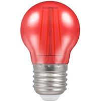 Crompton LED Filament Harlequin Round ES E27 4W   Red