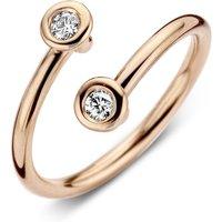 18ct Rose Gold Diamond Crossover Ring