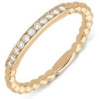 18ct Rose Gold 0.12ct Diamond Stacking Ring