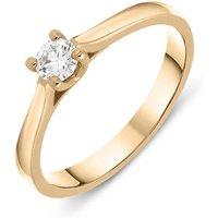 18ct Rose Gold 0.19ct Brilliant Cut Diamond Solitaire Ring Blc-083