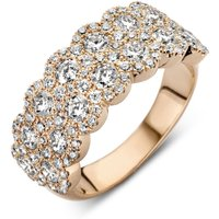 18ct Rose Gold 2.20ct Diamond Two Row Cluster Ring