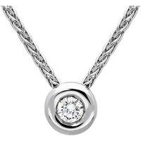18ct White Gold 0.06ct Diamond Brilliant Cut Solitaire Necklace