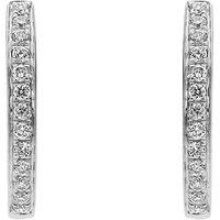 18ct White Gold 0.13ct Diamond Brilliant Cut Hoop Earrings