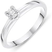 18ct White Gold 0.19ct Brilliant Cut Diamond Solitaire Ring