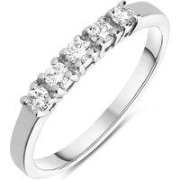 18ct White Gold 0.24ct Diamond Half Eternity Ring