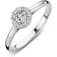 18ct White Gold 0.30ct Diamond Round Halo Ring