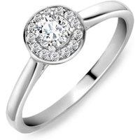18ct White Gold 0.31ct Diamond Round Halo Ring