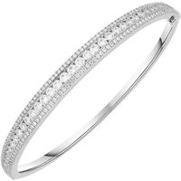 18ct White Gold 2.79ct Diamond Bangle