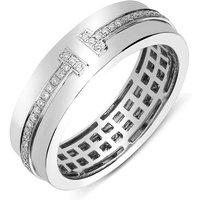 18ct White Gold 0.23ct Diamond Wedding Band Ring