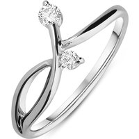 18ct White Gold 0.13ct Diamond Dress Ring