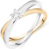 18ct White And Rose Gold 0.13ct Diamond Ring