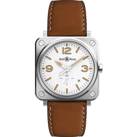 Bell & Ross Watch Brs Quartz White Heritage