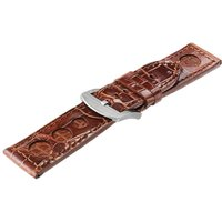uboat brown alligator with inset of crocodile d