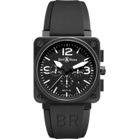 Bell & Ross Watch Br 01 94 Chronograph Black Dial Carbon Finish