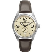 bell and ross watch vintage br 123 beige