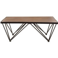 Teddy's Collection Newbury Brown Square Coffee Table
