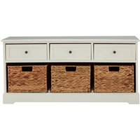 Teddys Collection Vito Ivory Storage Bench