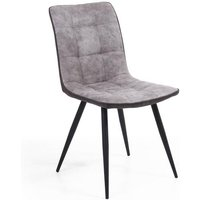 Shankar Rodeo Suede Effect Light Grey Dining Chair (2pk)
