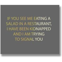 Hill Kidnapped Silver Foil Plaque