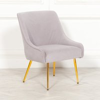 Maison Reproductions Velvet Dining Chair / Grey