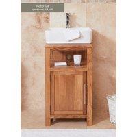 Baumhaus Solid Oak Single Door Sink Unit (Square)