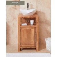 Baumhaus Solid Oak Single Door Sink Unit (Round)