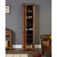 Baumhaus Shiro Walnut Tall Shoe Cupboard